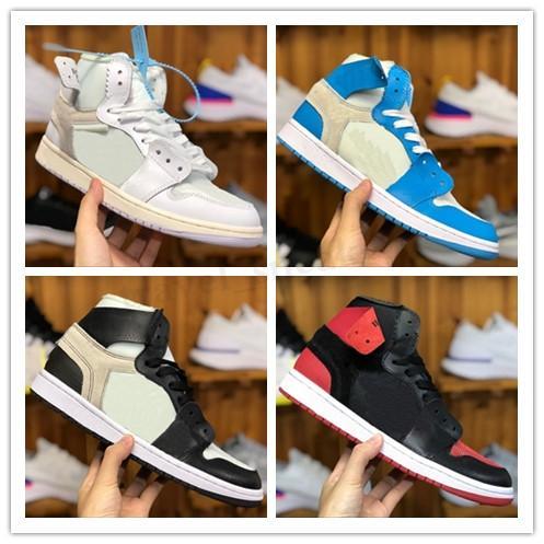 Nike Air Jordan 1 OFF White AJ1 OW Männer 1 Basketball-Schuh-Turnschuh-Off UNC Chicago Hoch Sky Blue 2020 New Jumpman 1s Frauen X Og Sport Schuhe Designer-Schuhe TG622