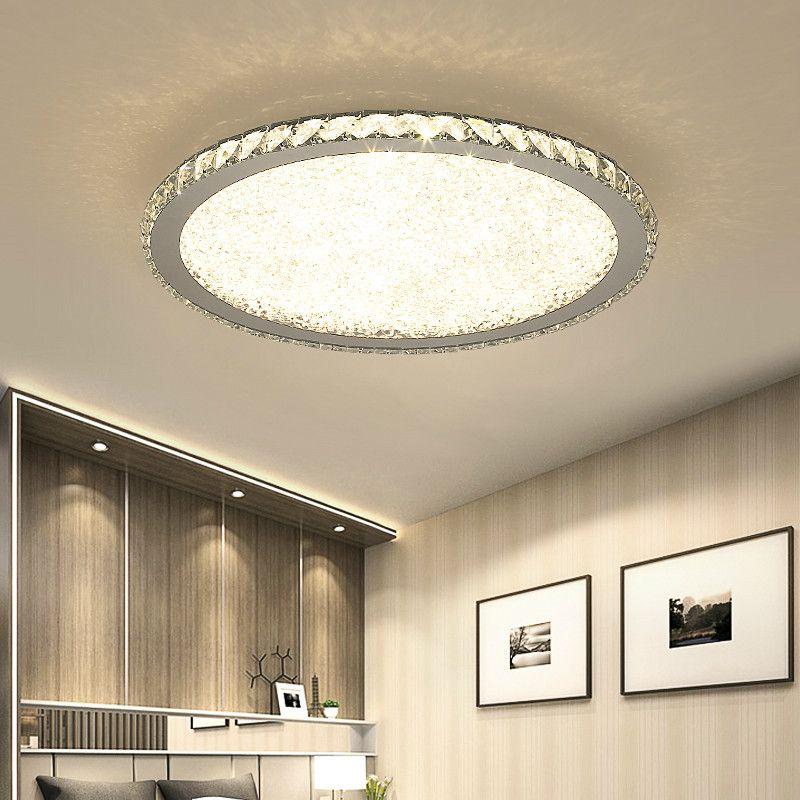 أدى الحديث الكريستال مصباح السقف مصابيح الإضاءة الرئيسية مصباح المعيشة غرف النوم plafonnier جولة أدى الثريا المباريات lampadari 110V-240V