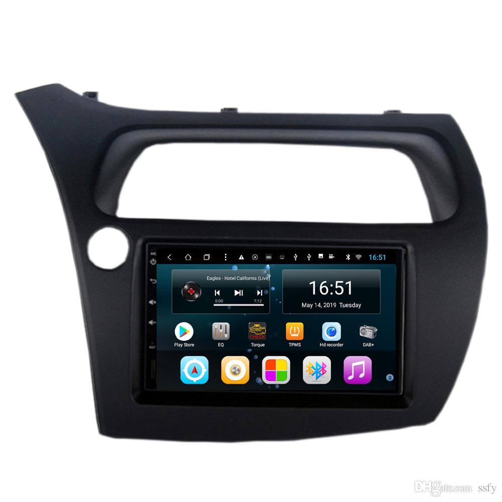 Android 9inch 8-core for Honda civic hatchback Car Steering Wheel USB vidio HD1080 mp3 mp4 music multi-touch screen Wifi Head Unit