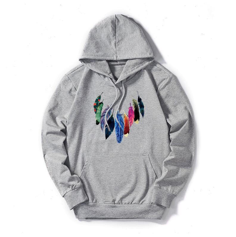 Diseñador de los hombres con capucha de la calle de Hip Hop de alta calidad con capucha de color sólido delgada con capucha regular Tops hombres Pluma de impresión sudaderas Ropa de la marca