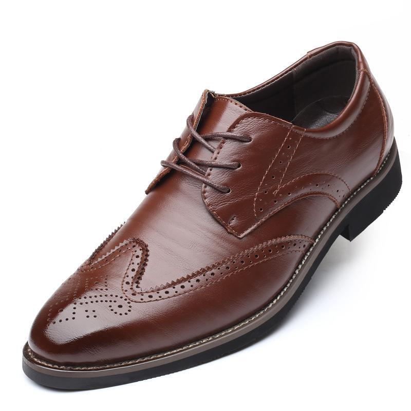 37 ~ 48 بالاضافة الى حجم رجل ربط الحذاء حتى ديربي البروغ حذاء أيرلندي أحذية رجالية أشار تو أحذية اللباس حفلات الزفاف الرسمية مكتب الأعمال البدلة الأحذية الجلدية
