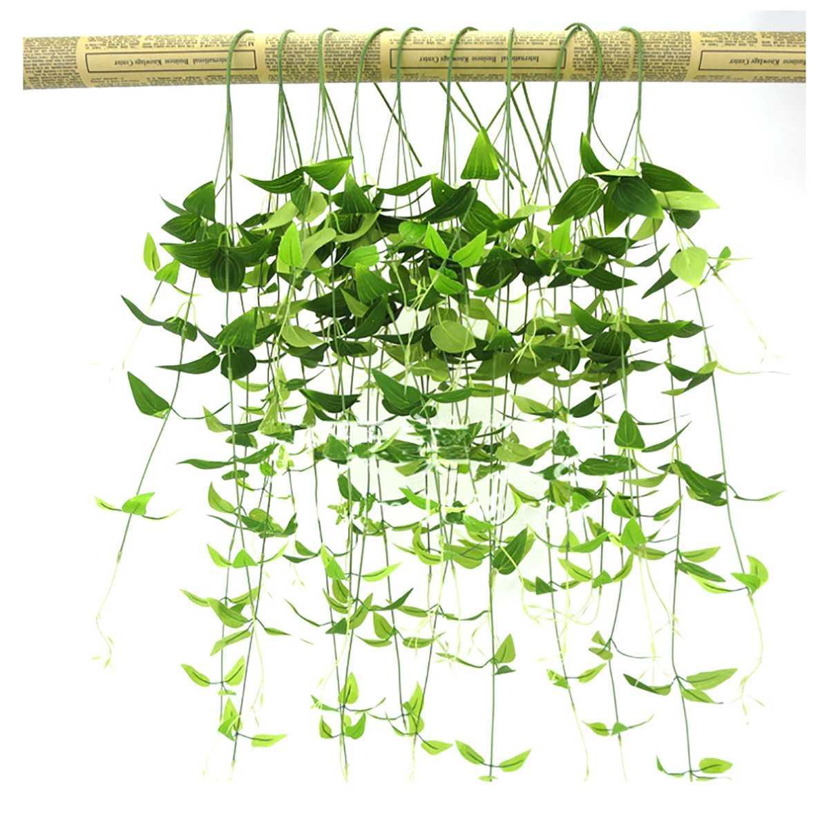 6/3 / 1pcs 96cm plantas artificiales plantas de hoja Garland sale de la flor del partido del jardín boda de la vid de simulación de Florida verde Decoración