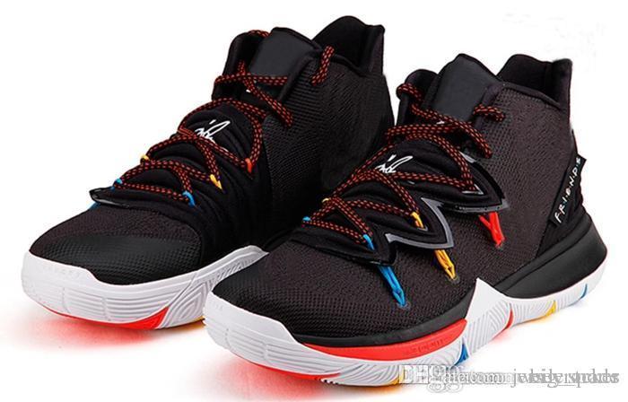 2019 yeni varış kyrie 5 Erkek Basketbol Ayakkabı Koşu Irving 5s siyah turuncu arkadaşlar Spor Sneaker Tasarımcı des chaussures zapatillas