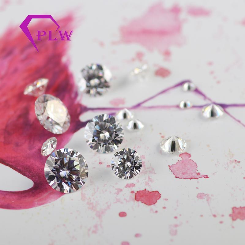 В том числе сертификат 10мм 4ct D цвет белый VVS бриллиантовая огранка реальный драгоценный камень муассанит от прованс ювелирных изделий CJ191205