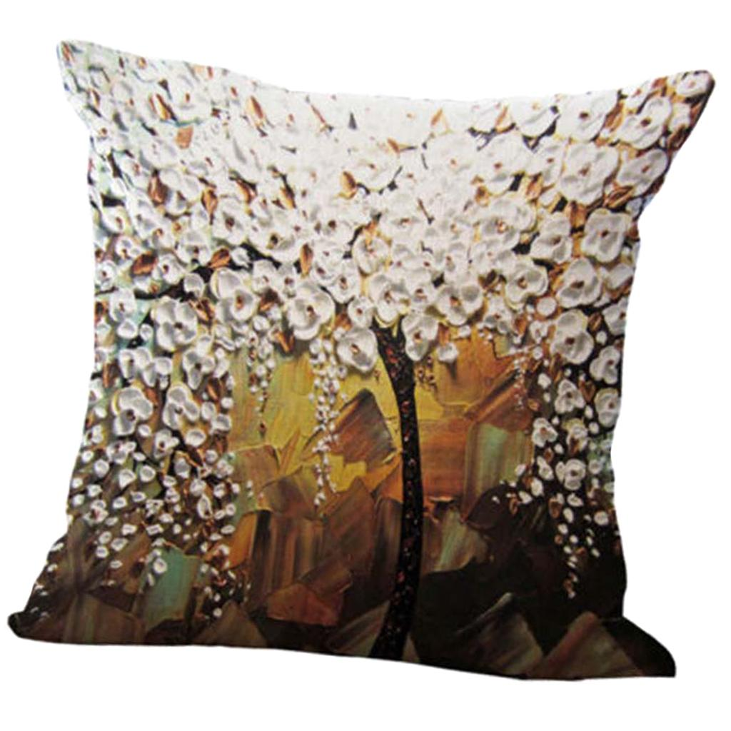 Dreidimensionale Ölgemälde Baum-Blume Kissenbezug Kopfkissenbezug