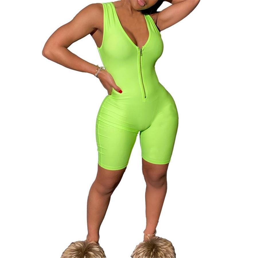 Комбинезон Rompers женские Комбинезоны женские Комбинезоны 2020 Streetwear Плюс Размер Ромпер Весна Лето Lace-Up с длинным рукавом комбинезона # 39114