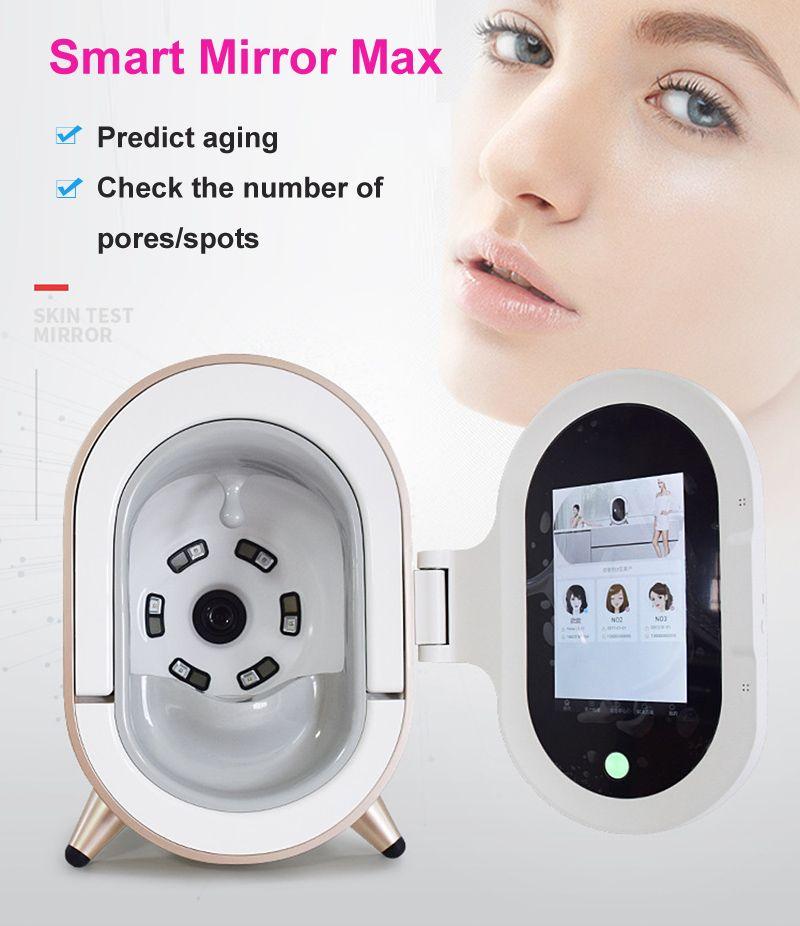Factory Price 20 million pixel skin analyzer face snalysis 3D skin analysis beauty machine magic mirror with facial moisture test pen