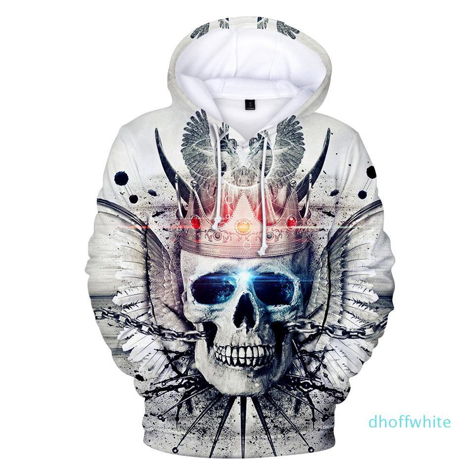 New 3D Sweatshirt Skull Hoody Printed Hoodies Streetwear Pullovers Jackets Clothing 4XL