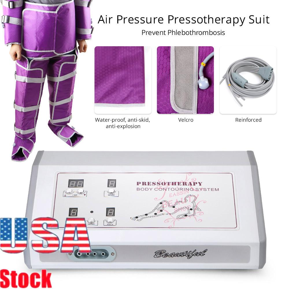2020 US Pressotherapy Suit Lymphatic Drainage Massage Body Contouring Benefits Air Pressure Slimming Instrument Salon CE