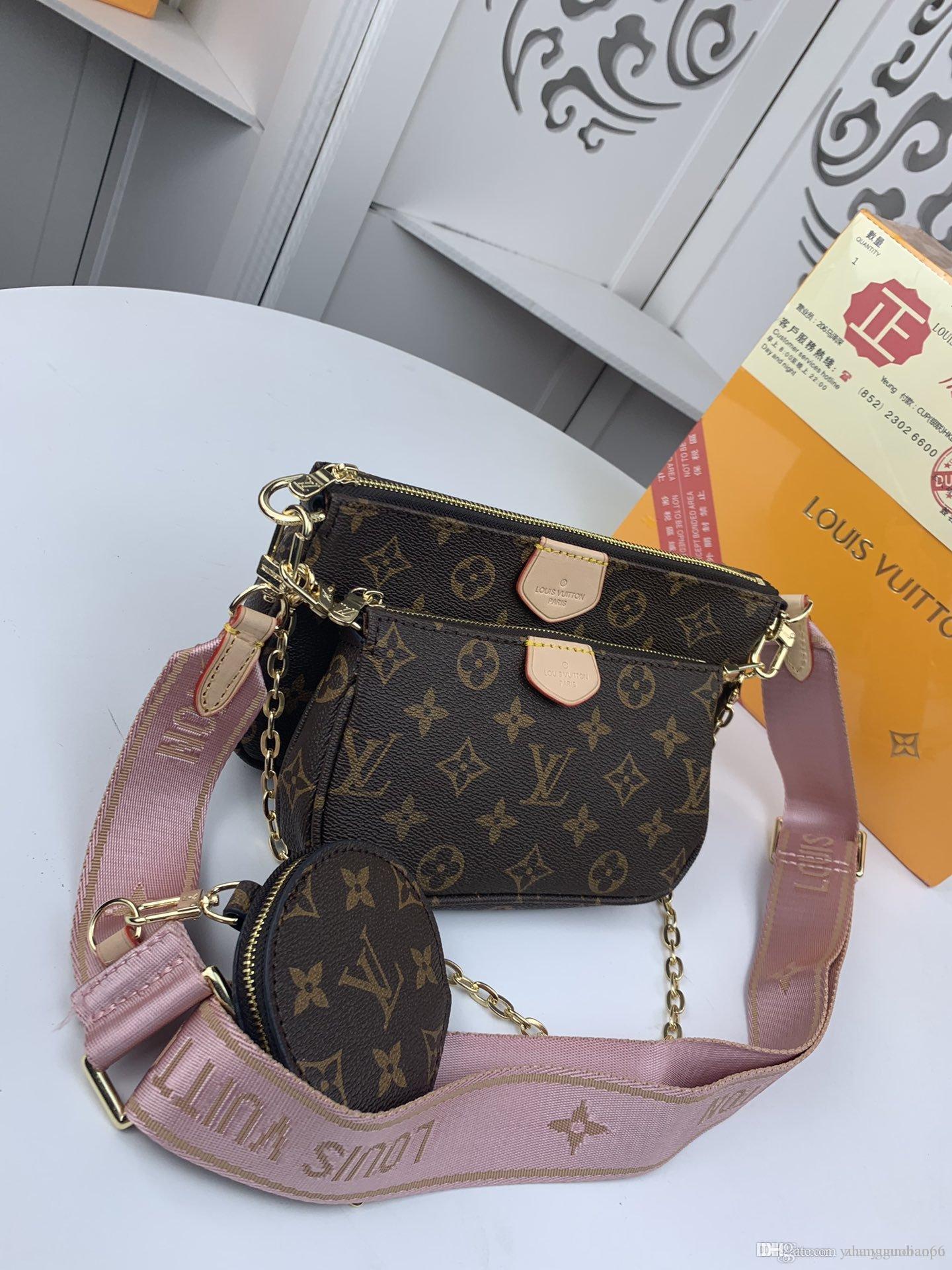 En kaliteli kadın üç parçalı çanta çanta yüksek deri moda kadın çanta size24.0 * * 4.5 13.0 / 19.5 * 11.0 * 4.0 / 9.5 * 2.0cm M4482