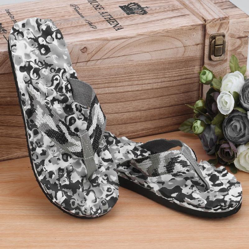 dos homens chinelos de verão Camouflage Flip Flops Shoes Antiderrapante Sandals deslizador indooroutdoor calçados casuais Praia Dropshipping