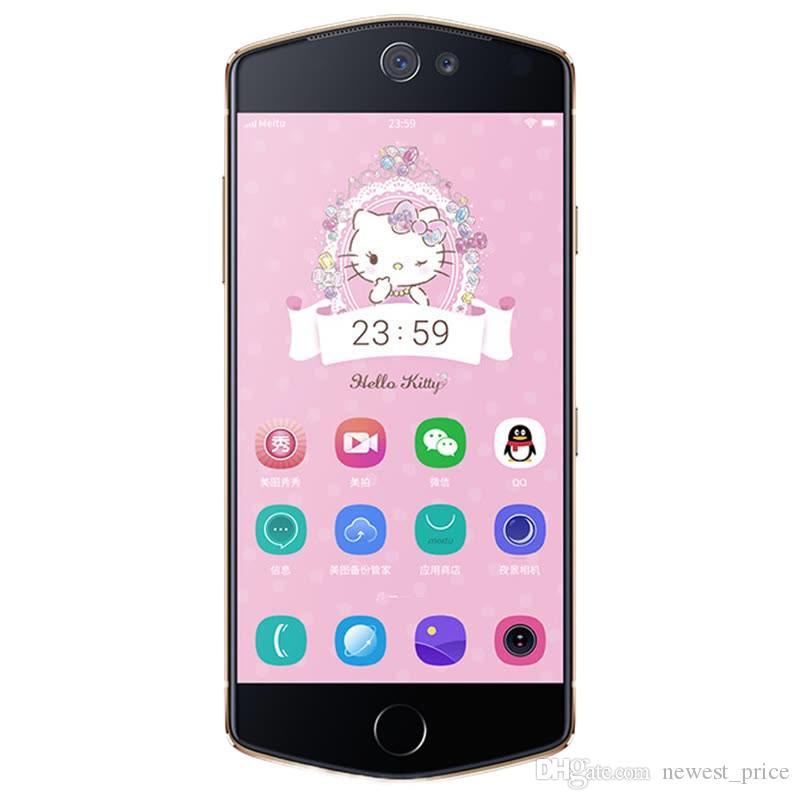 Оригинальный Meitu M8s преимущества сети 4G LTE сотового телефона 4 ГБ оперативной памяти 64 Гб ROM MT6797X Дека ядра Android 5.2-дюймовый 21МП отпечатков пальцев ID 3100мач смарт-мобильный телефон