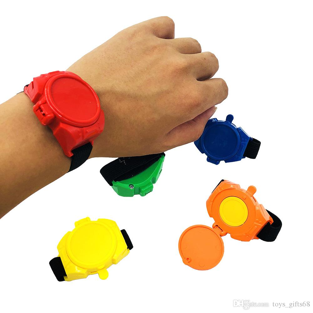 Hot sale Children's puzzle watch launcher Ejected flying saucer Watch catapult toy DIY assembled toy gift 2.5*4.5*6cm