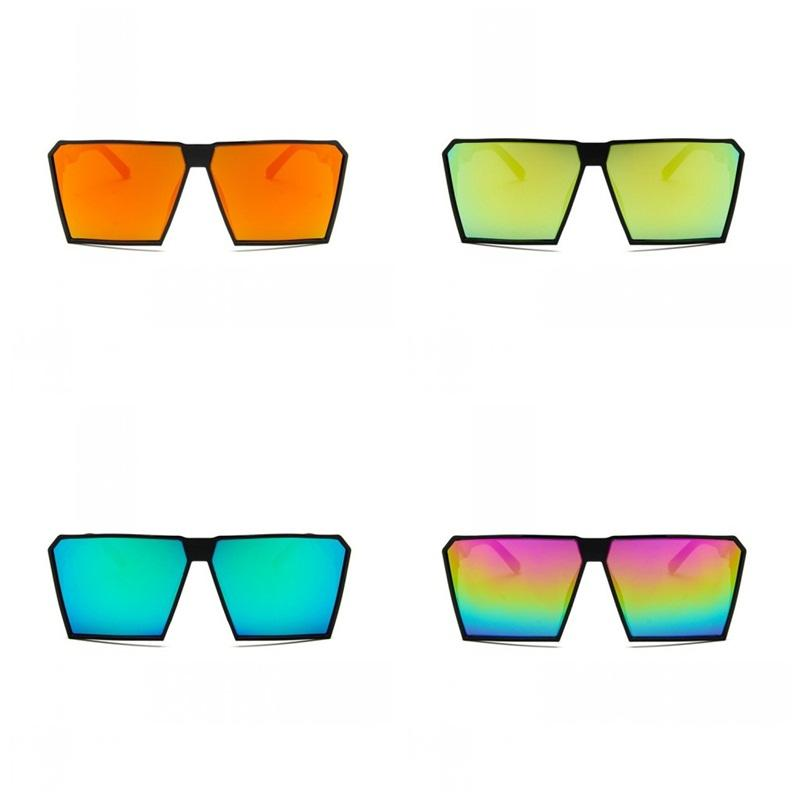 Women Big Box Square Sunglasses Colorful Plastic Vintage Sun Glass Simple Fashion Lovers Eyeglass Factory Direct 3 6kd E1