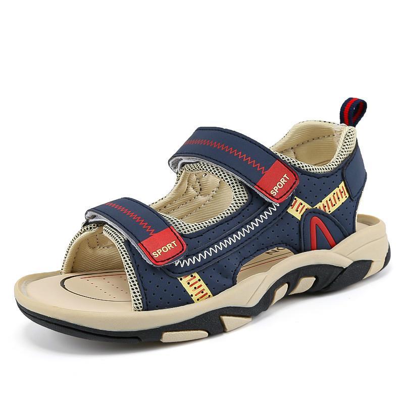 2020 الصيف بنين الصنادل طفل الصنادل الأطفال أحذية القصاصات أحذية مدرسة المطاط تنفس المفتوحة تو عارضة بوي صندل 218 T200622