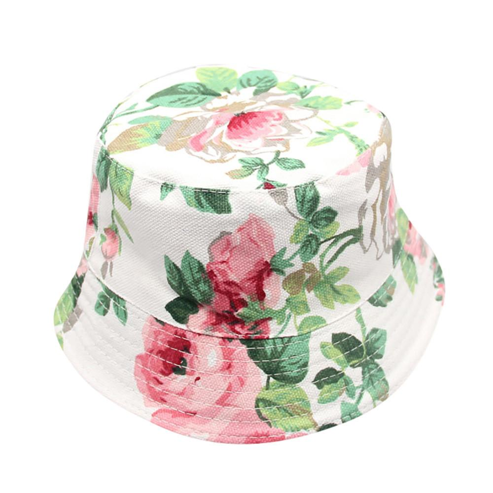 2018 New Fashion Toddler Baby Kids Boys Girls Floral Pattern Bucket Hats Sun Helmet Cap High Quality Lovely Gift