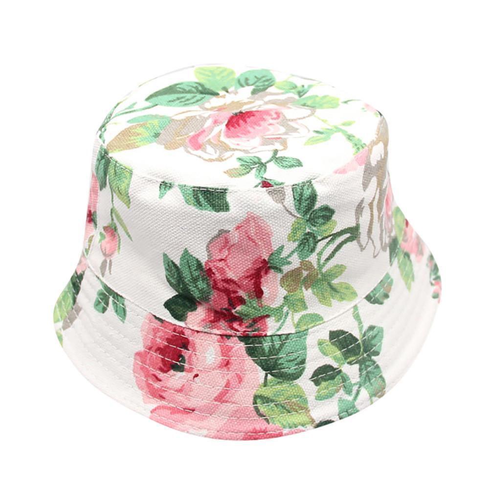 2018 Новая Мода Малыш Детские Дети Мальчики Девочки Цветочный Узор Ведро Шляпы ВС Шлем Cap Высокое Качество Прекрасный Подарок