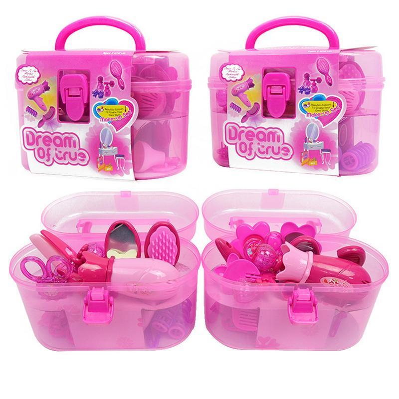 Mini Hair Dryer Preschooler Salon Pretend Play Set for 1:12 Dollhouse Supply
