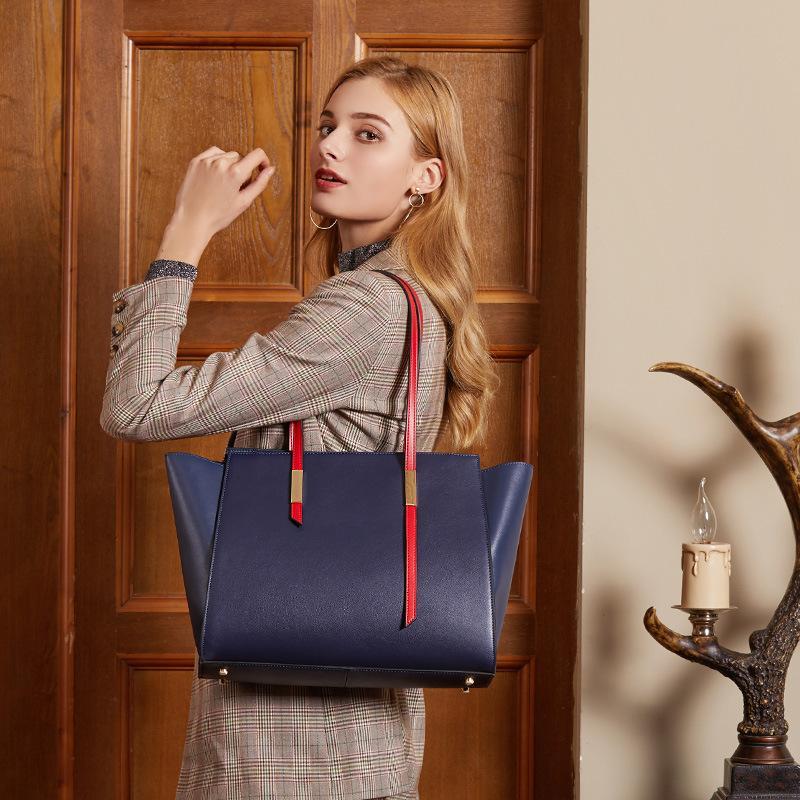 Beutel-Frau 2019 große Kapazitäts-einzelne Schulter-echtes Leder-weibliche Paket-Unterstützung Special Package Ma'am Portable