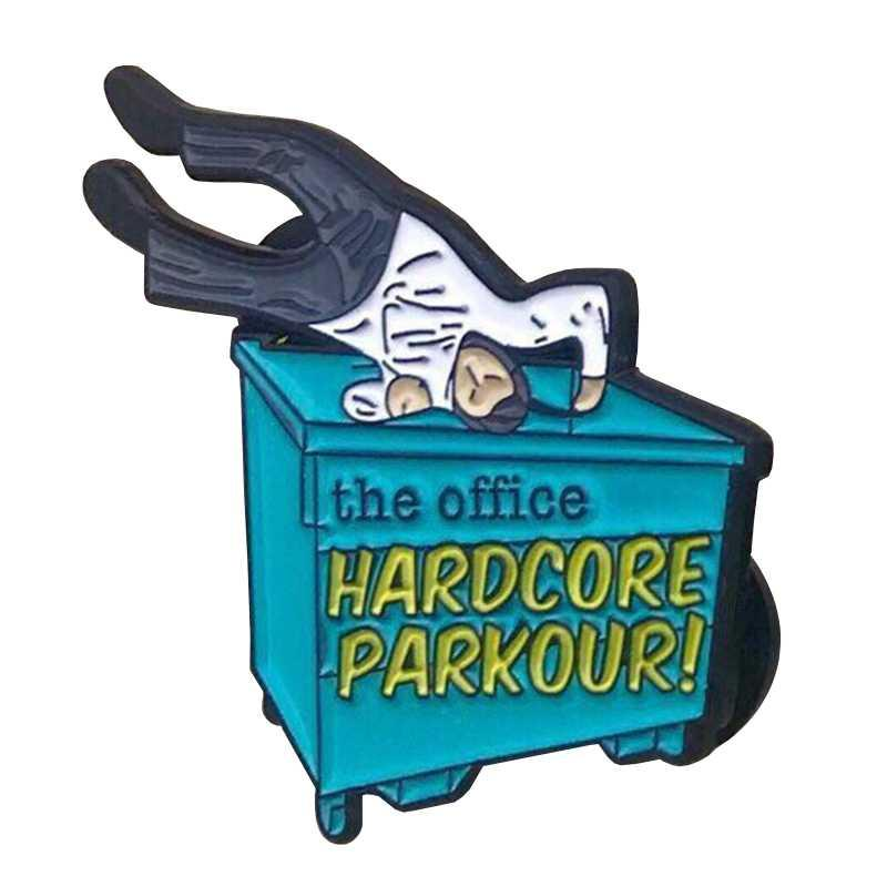 Pin Hardcore de esmalte Parkour
