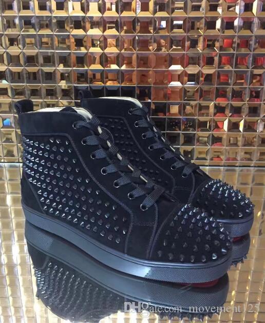 Hot Vendre Nom Parfait Rouge Sneaker Bas Casual Chaussures Homme Femme Mode Rivets Cuir Haut Top Hommes Robe de soirée pas cher Chaussures de sport avec la boîte 35-46