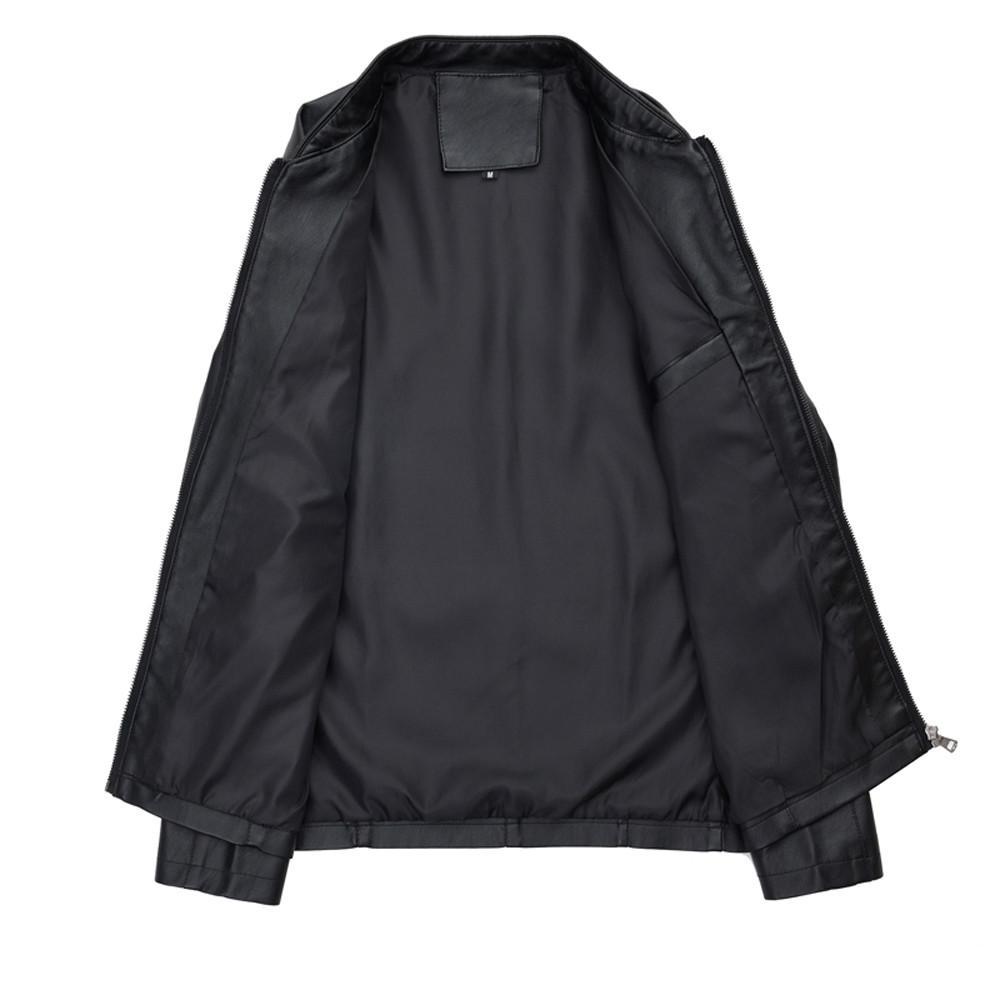 Оптовая продажа-JAYCOSIN 2019 мужская мода осень зима новая мода кожаная одежда отдых воротник молния Coathip hop jaqueta masculino 9704