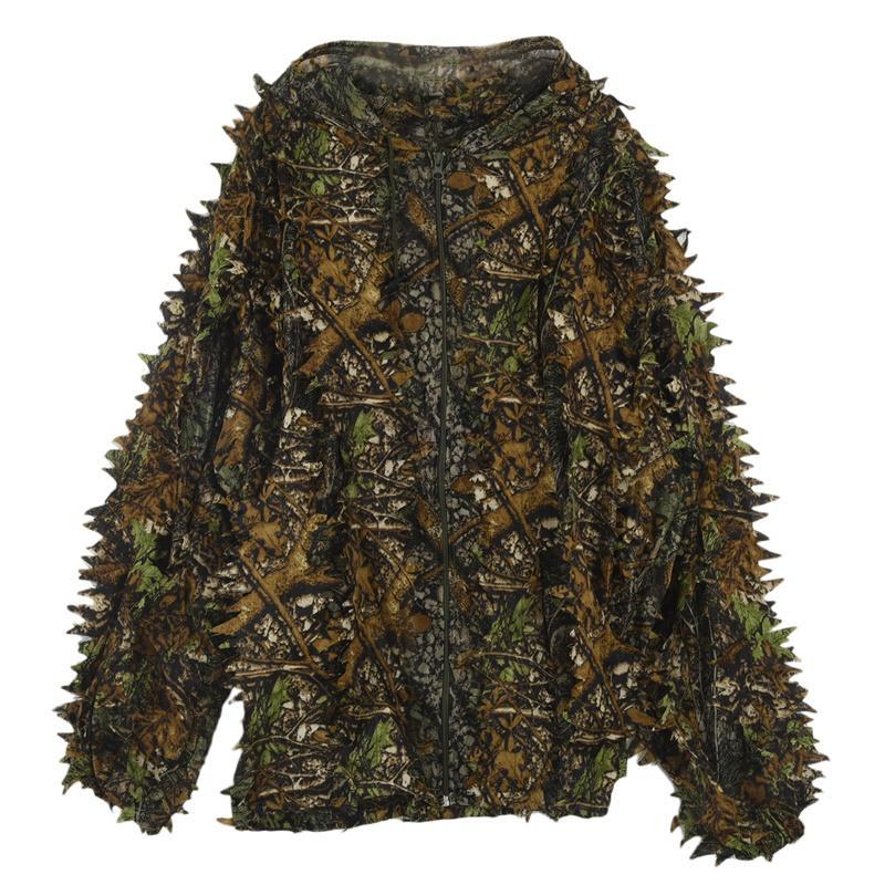 Folha 3D Adultos Ghillie Suit Woodland Camo / camuflagem Deer Hunting Stalking em