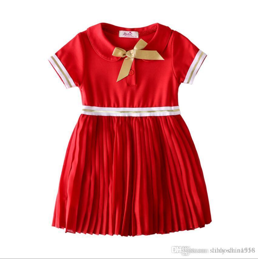 Ropa infantil falda infantil vestido de algodón para niños costura gasa princesa vestido falda muñeca 2019 verano