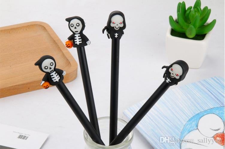 Gel Pens Free Shipping Fashionable Night Skull Neutral Pen Halloween Pumpkin Ghost Water Pen Stationery Wholesale GP 429