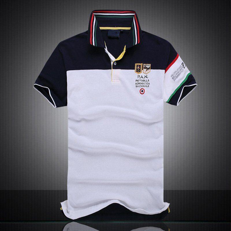 Высокое качество горячей продажи Mens Brand New Polo Shirt Men Black Watch Classicual Пользовательские Fit с коротким рукавом Хлопок Big Horse Polo Team T-Ши
