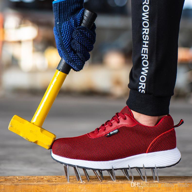 2020 Men Steel Toe Work Safety Shoes