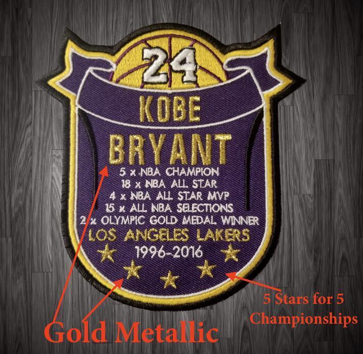 KB Памятная Stat KB патч LA Баскетбольный патчи значки нашитыми на приблизительно 4 «»