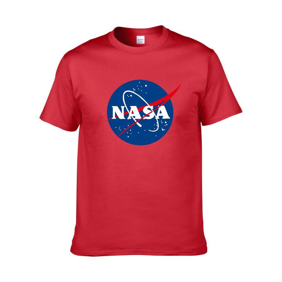 Футболки Мужская рубашка Дизайнерская рубашка Повседневная НАСА Письмо с принтом с круглым вырезом с коротким рукавом Хлопок Quick Dry Новая мода Размер рубашки XS-XXL