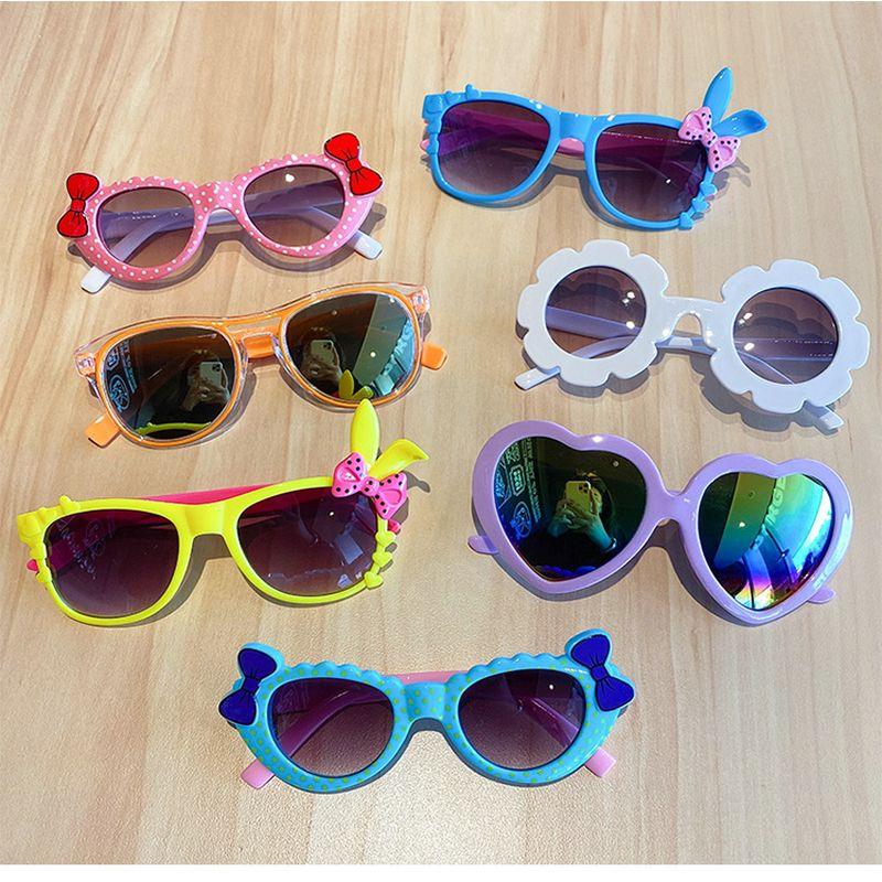 cartoon sunglasses for kid lunettes de soleil filles Vachetta Tan Mirrored Rusta Mirror Lens cartoon sunglasses