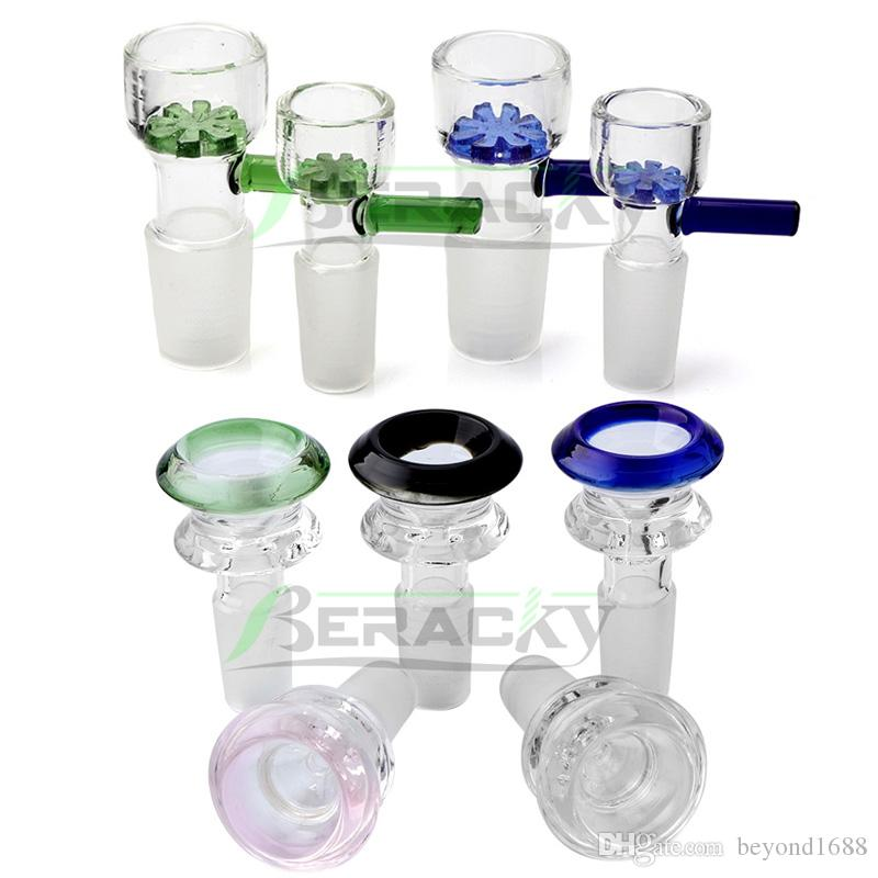 DHL Shipping!!! 14mm 18mm Male Glass Bowl Snowflake Diamond Smoking Glass Bowls Piece for Tobacco Glass Water Bongs Dab Oil Rigs