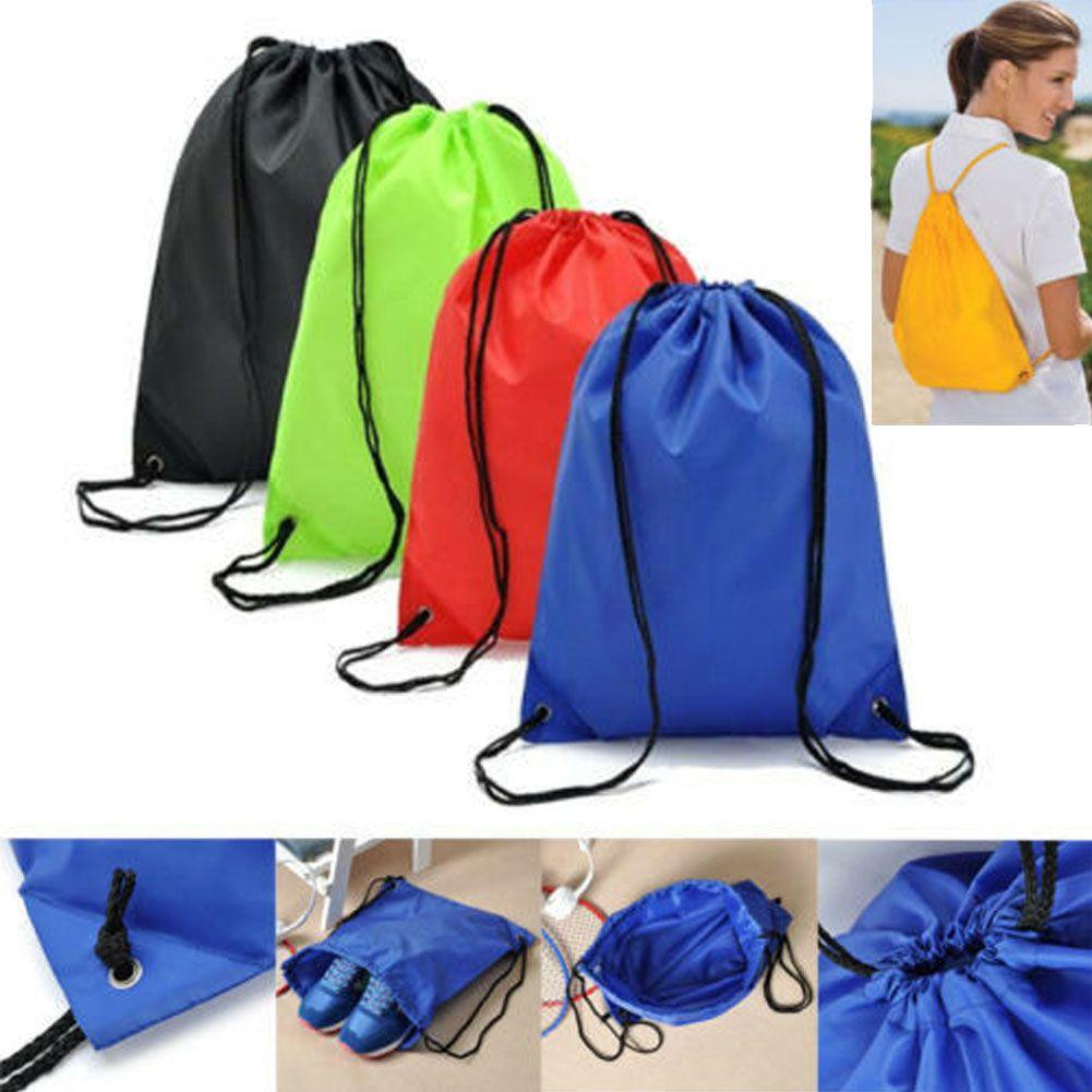 Drawstring BagS Transparent Backpack Cinch Sack School Tote Gym Sport Pack