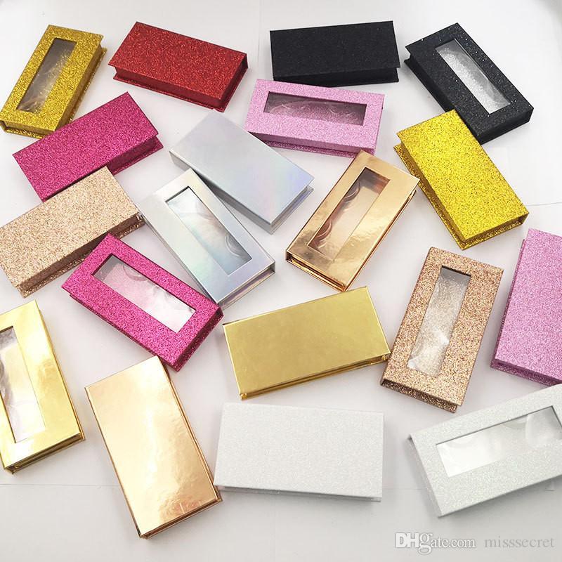 Yeni 25mm 3d Vizon Kirpikler Glitter Durumda Yanlış Kirpik Ambalaj Kutusu Kirpik Kutuları Makyaj Hediyeler Saklama Kutusu