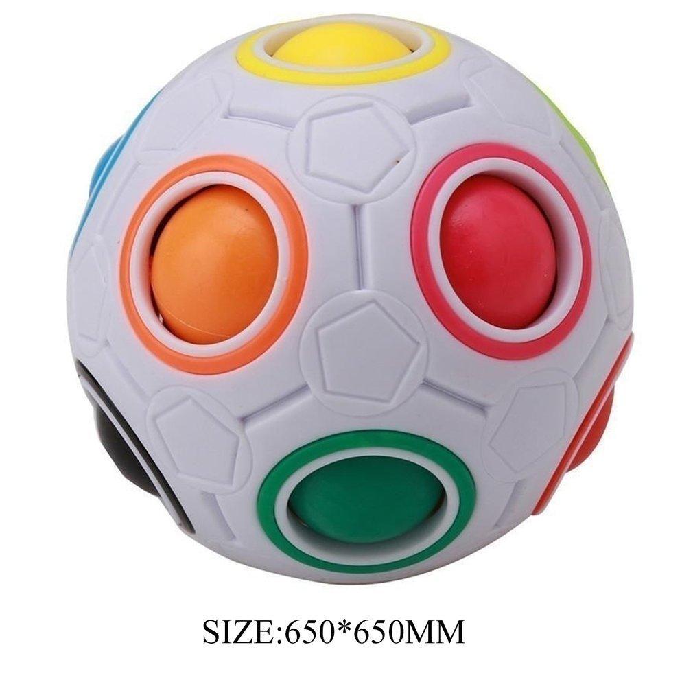 جديد غريب الشكل ماجيك مكعب لعبة مكتب لعبة مكافحة الإجهاد قوس قزح الكرة كرة القدم الألغاز الإجهاد المخلص مكعب