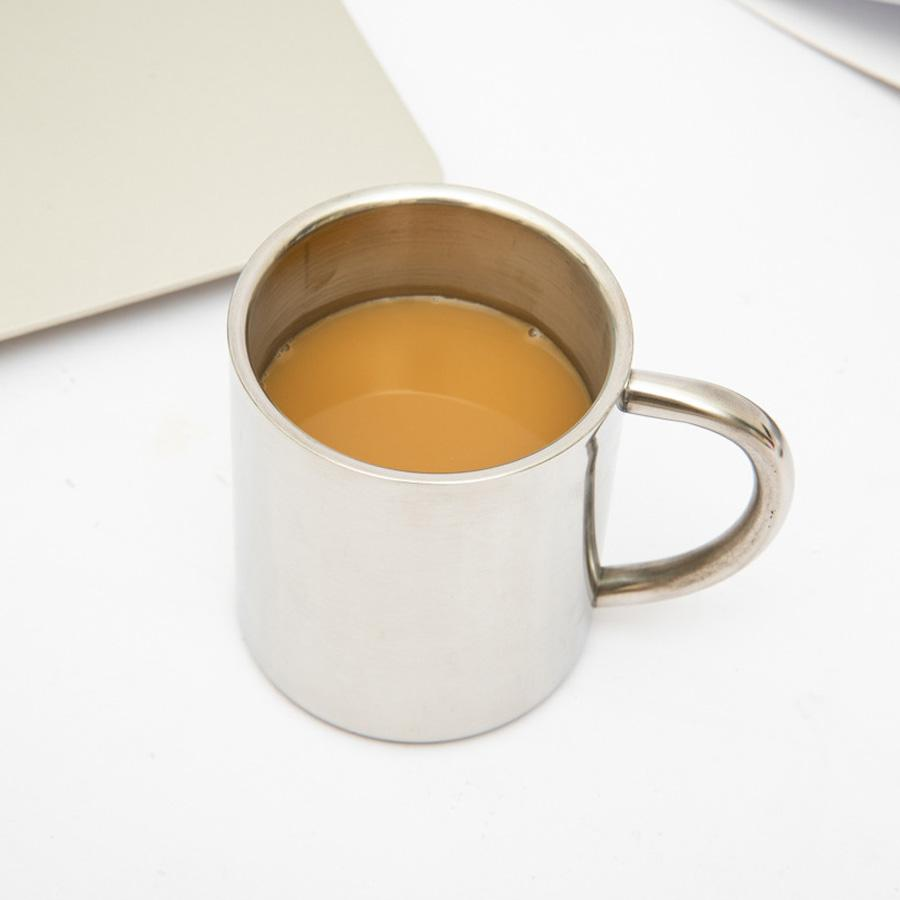 Edelstahl Doppelschicht Kaffeetasse Tassen Tragbare Camping Tasse Mit Handgriff Edelstahl Bergsteigen Becher 300ml 400ml DH1116-3
