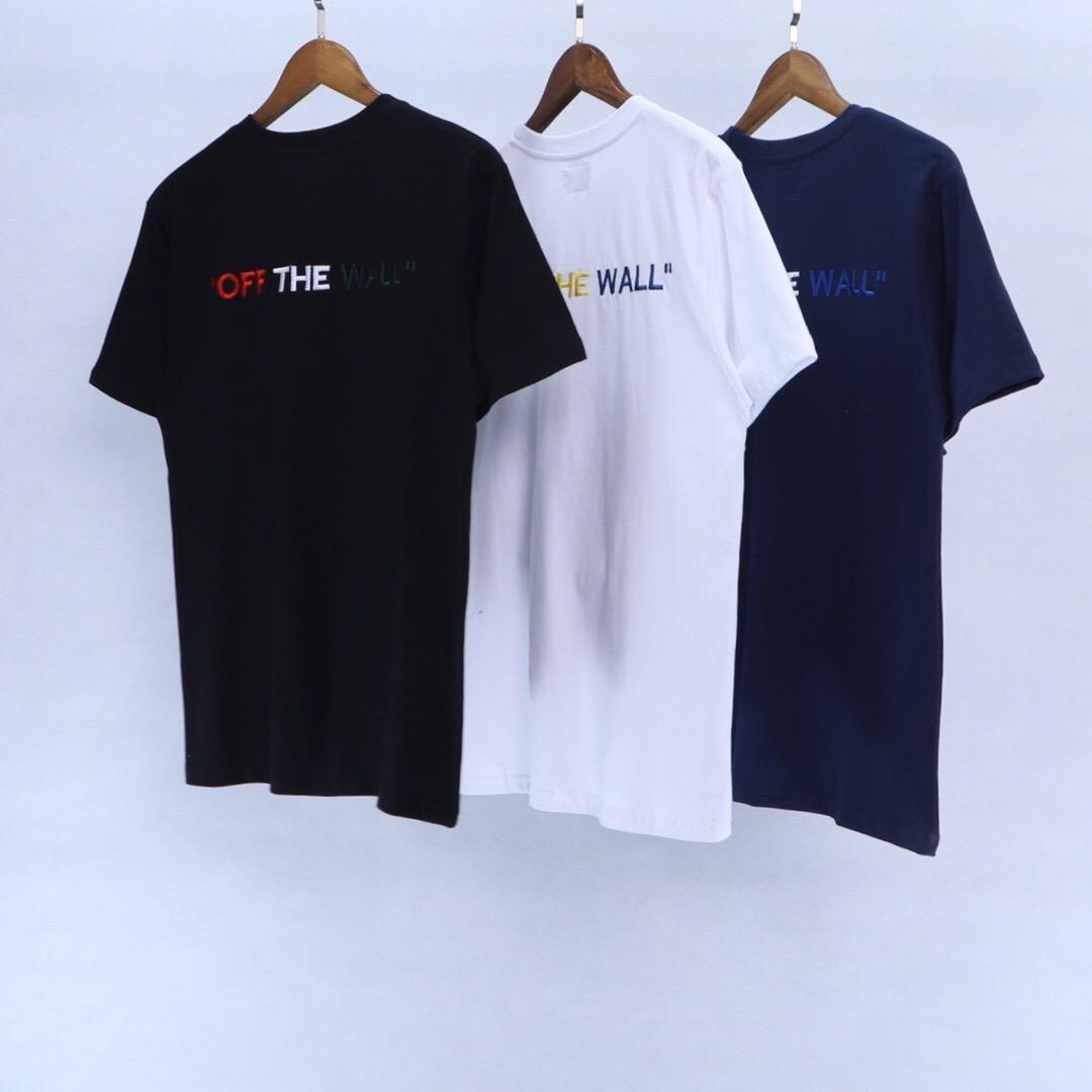 2020 maniche corte Mens maglietta degli uomini delle donne di alta qualità Fashion Boy London Men Rottura della lettera di stampa Tee 043