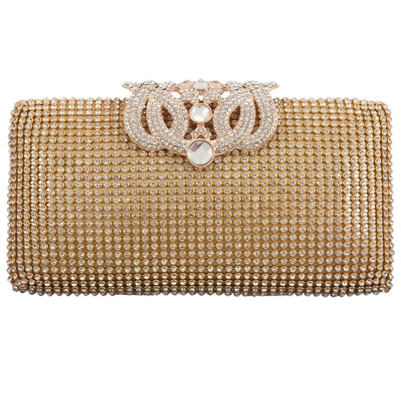 Dazzling Rhinestone Encrusted Evening bag Clutch Purse Party Bridal Prom