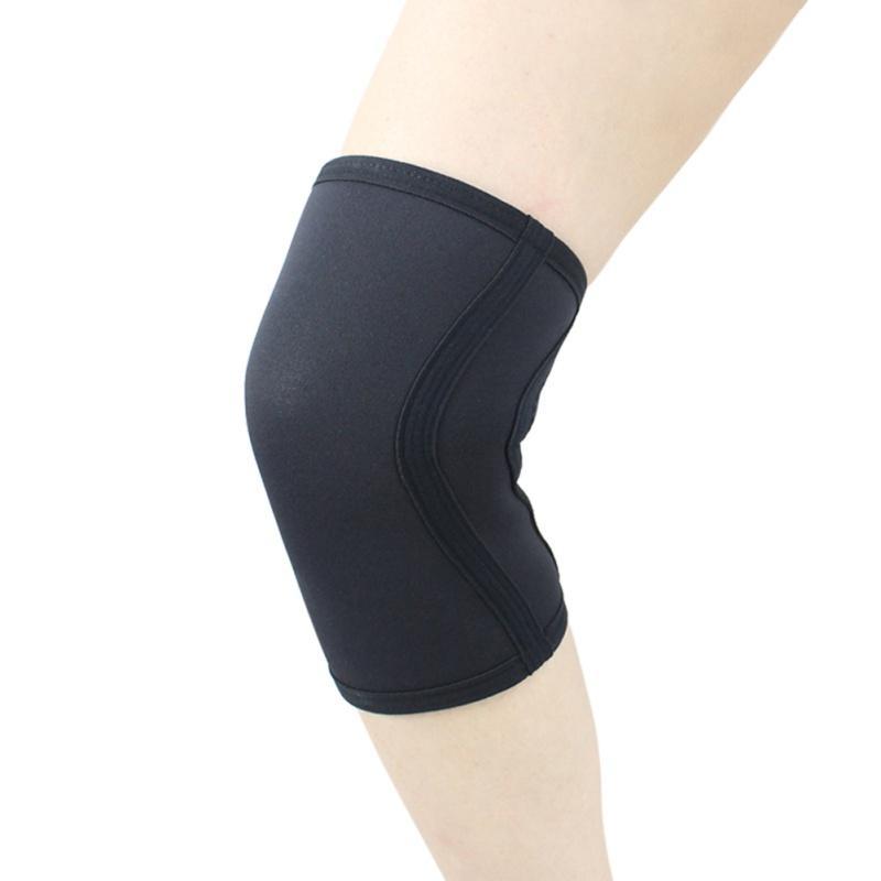 7 mm Sıkıştırma Neopren Halter dizlik spor salonu eğitim Çömelme diz koruyucu dizkapağı spor güvenlik