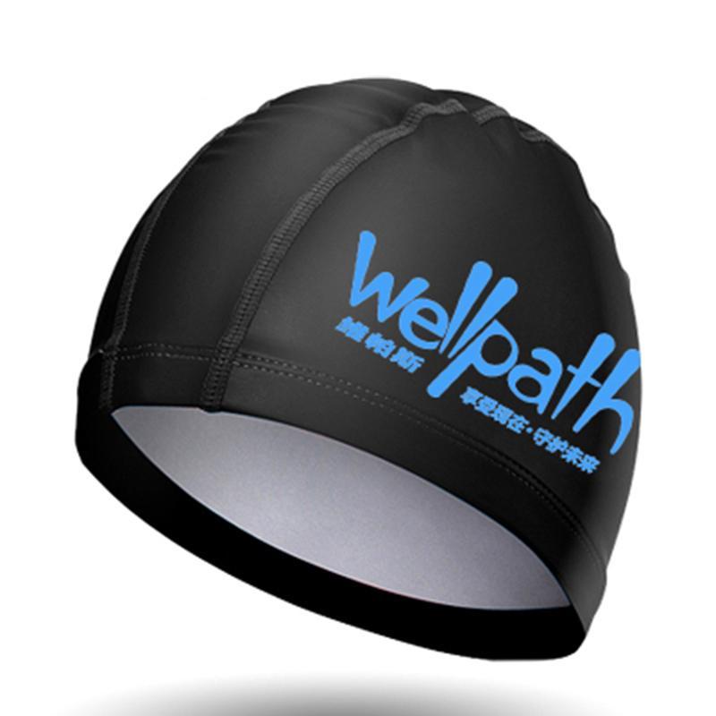 Водонепроницаемый Pu Ткань Защищаем Уши длинные волосы Спорт плавать бассейн Hat бассейн Cap Free Размер Мужчины Женщины Взрослые