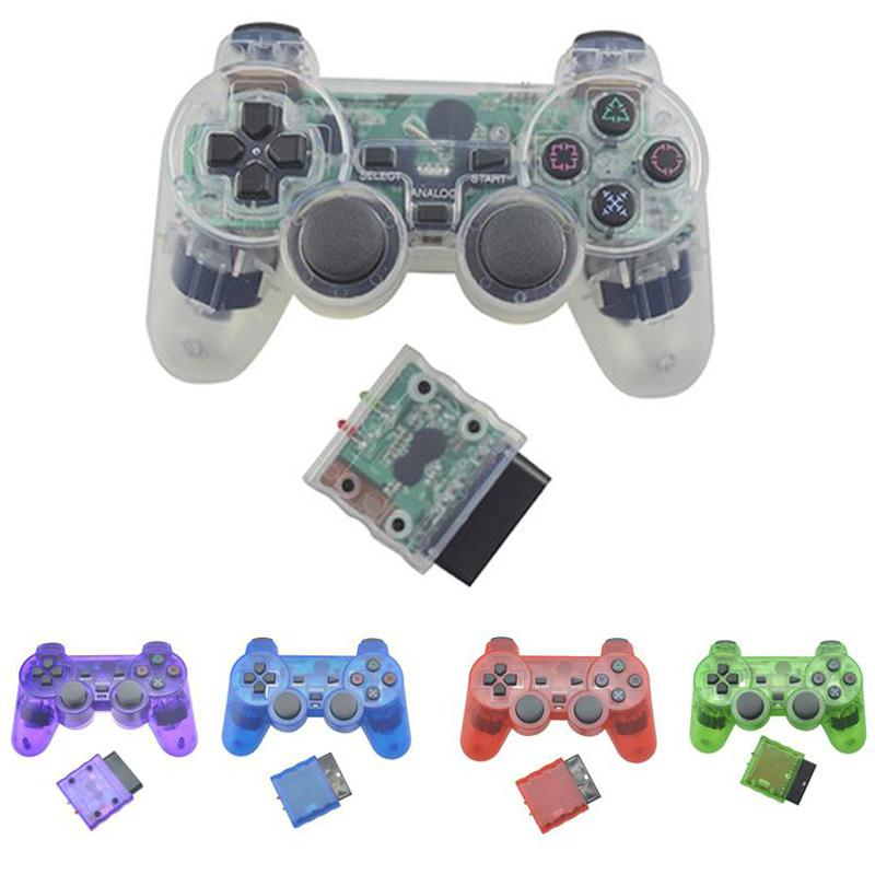 BEESCLOVER Für Sony PS2 2.4 G Wireless Analog-Controller Bluetooth Gamepad für Play Station 2 Joystick Dualshock 2 d30