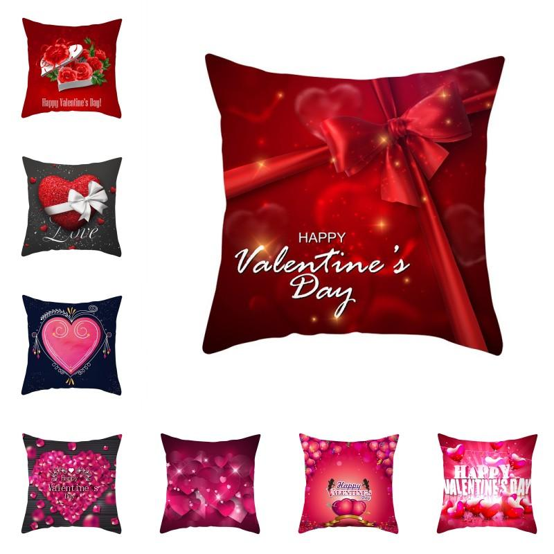 Personalized Decorative Cushion Cover Pillow Love Heart Couples Name year est.