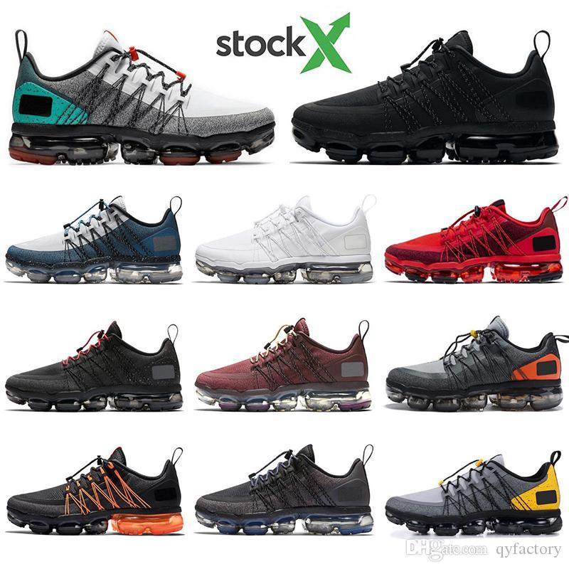 Nike Air Vapormax Utility Con i calzini di modo medio di oliva UTILITY uomini scarpe da corsa tripla bianco riflettente nero lupo grigio mens traspirante allenatori sportivi sneake