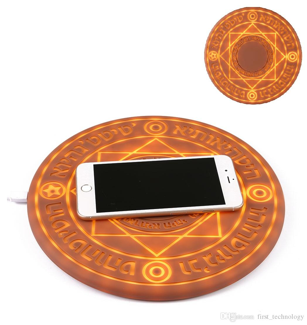 Glowing Magic Array Wireless Charger Universal 5W 10W Qi Wireless Fast Charger Change Stand pad for iPhone Samsung Huawei