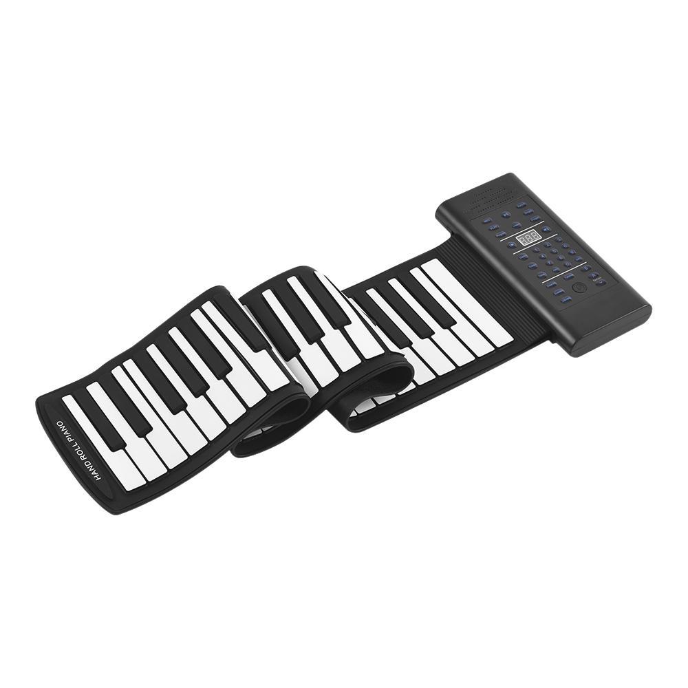 Portatile 61-Key rotola in su della tastiera di piano elettronico di silicio incorporato altoparlante stereo 1000mA Li-ion UK / EU / USA / SPINA