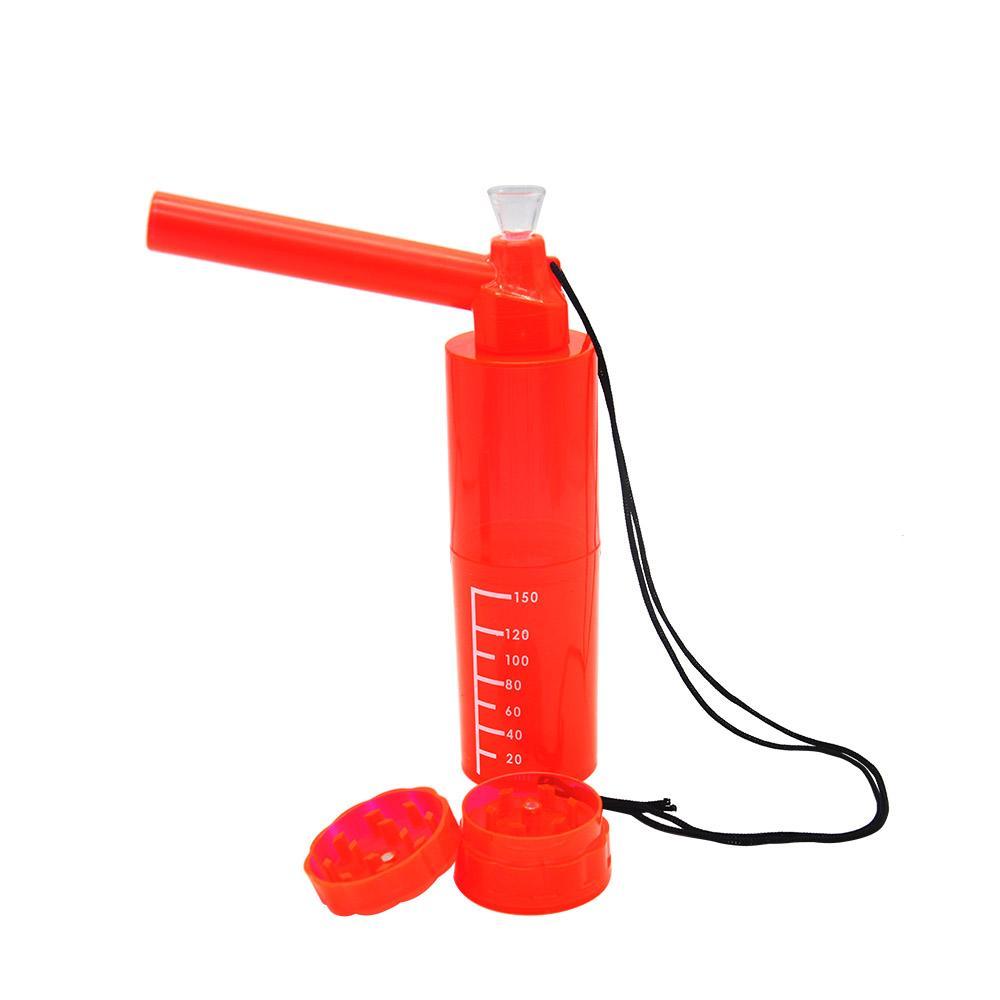 Nargile Su Borusu ile Tütün Öğütücü 220mm Nargile Nargile Akrilik Plastik Tütün Su Borusu bonglar Sigara Yeni asın Halat Kayış Sert Plastik