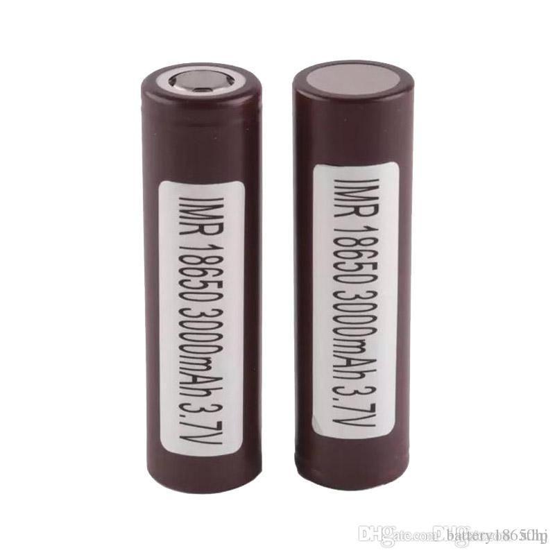 100% INR 25R HG2 HE2 HE4 18650 Pil 2500 mAh 3000 mAh 3.7 V 35A E Cigs Şarj Edilebilir Lityum Piller Hücresi